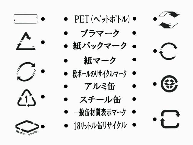 日常観察力クイズ 容器リサイクルマーク それぞれ対応するものを線で結んでね!