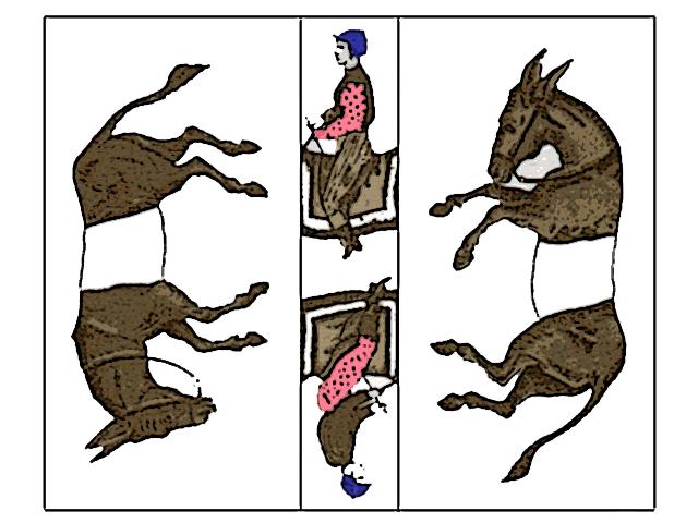 サム・ロイドの「トリックドンキー」有名なパズルですが・・・