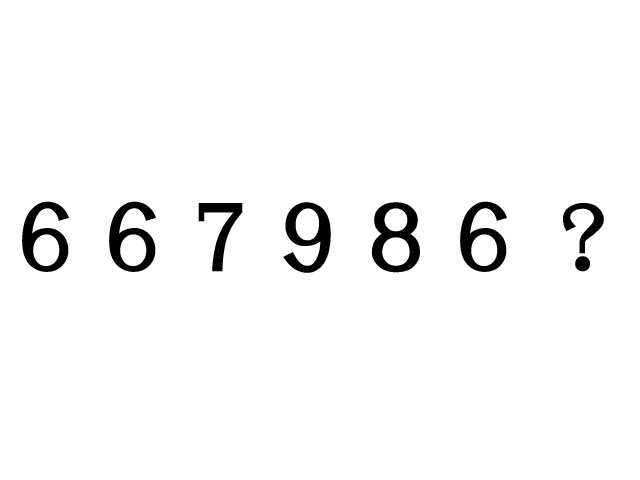 高IQクイズ 数字法則問題5問「667986?」「7855?4469788」「44444?3」「1679754?」「10201021?・・・」