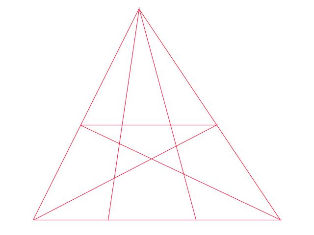 図の中に三角形は何個ありますか? って問題に1本足してみました。