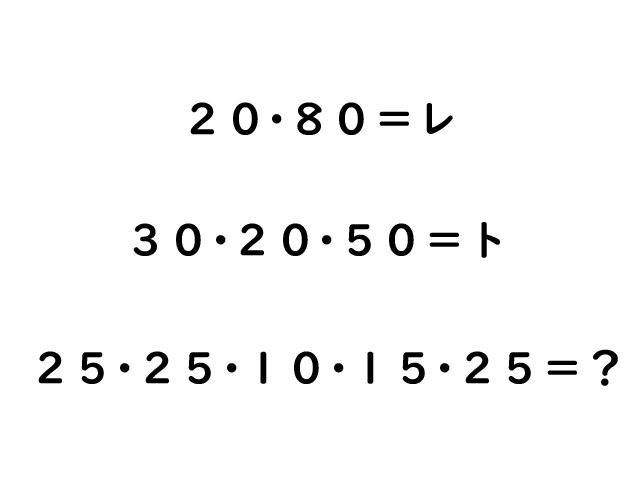 今ちゃんの実は名物コーナー 慶應義塾大学クイズ研究会 クイズ謎トレ対決問題3問